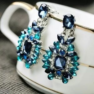 Sparkling Night Crystal Earrings